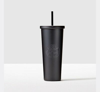 Starbucks Christmas Dot Matte Black Stainless Steel Cold Cup 24 oz Venti