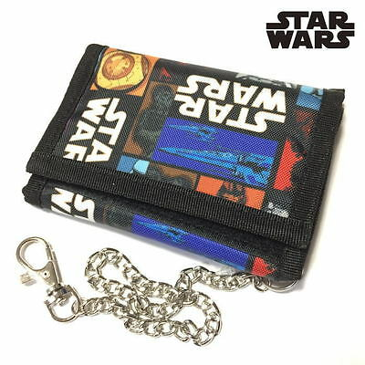 Star Wars The Force Awakens Toy Doll Trifold Wallet Keyring Keychain Coin Purse