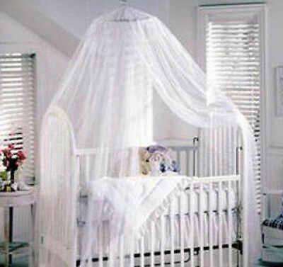 Baby White Mosquito Net Netting Canopy for Nursery Crib Bed Cot Canopy