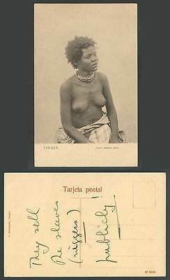 Morocco Old Postcard Tanger Esclave Arabe, Young Slave Woman Girl & Bare Breasts