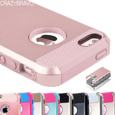 For Apple iPhone 5 SE 5S Case Shockproof Hybrid Rugged Rubber Armor Hard Cover