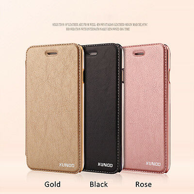 XUNDD Encore Wallet Leather Rose Gold Cover Case for iPhone 6 6S 7 7 Plus