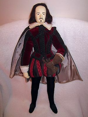 Brenda Price 1983 William Shakespeare Costume Doll Handmade England -Very Rare!