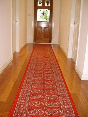 Hallway Runner Hall Runner Rug 8 Metres Long Patterned Red FREE DELIVERY