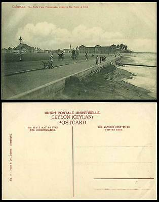 Colombo Old Postcard GALLE FACE PROMENADE CLUB & HOTEL