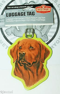 Labrador Chocolate Pet Co Dog Breed Id Tag For Luggage Carrier Gym Bag Etc New