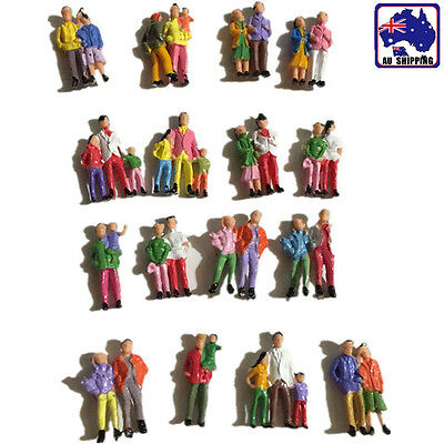 10pcs Scale 1:87 Painted People Person Model Train Figurine Layout  GMOD352x10