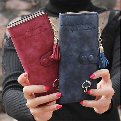 Lady Women Leather Clutch Wallet Purse Long Card Holder Handbag Bags USWarehouse