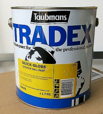 TAUBMANS Tradex  Quick Gloss Exterior Wall Paint White 4L