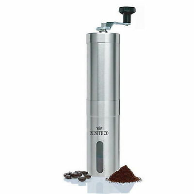 ZENITHCO BEANSUP Ceramic Hand Coffee Mill Mini Coffee Grinder Stainless KF01