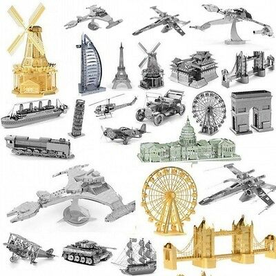 Brand New 3D Metal Model Puzzle No Glue Jigsaw Laser Cut Assembly DIY Toys Gifts