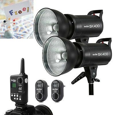 Godox 2x 400w SK400 Photography Studio Strobe Flash Light Kit Set For Wedding