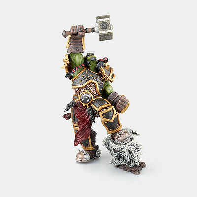 WOW World of Warcraft Orc Warchief Thrall Action Figure 3D PVC Model Statue New