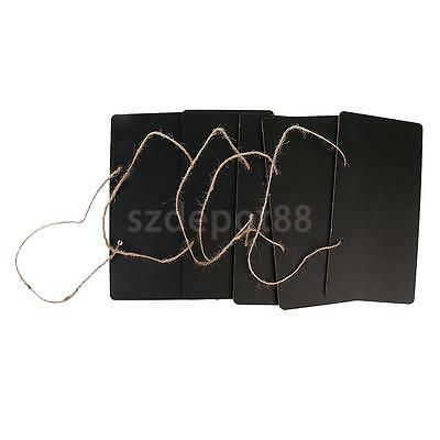 5x Rectangle Chalkboards Signs Hanging Message Board Weddings Party Favors