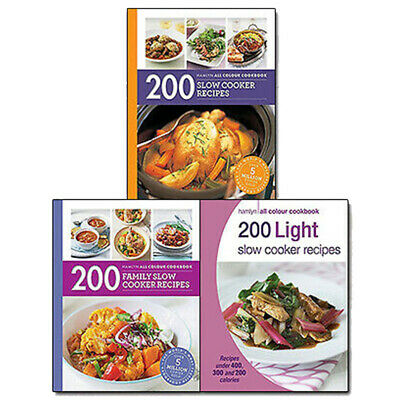 200 Slow Cooker Recipes Collection 3 Books Set Pack NEW 200 Family,200 Light UK