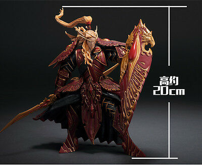 WOW World of Warcraft Blood Elf Paladin Quin Thalan Sunfire 3D PVC Action Figure