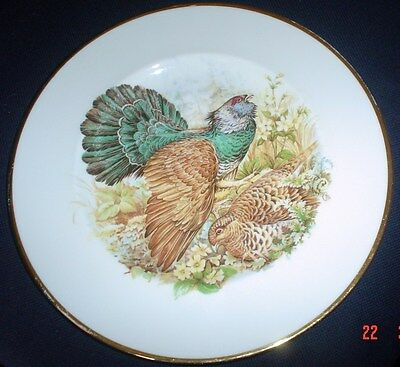 Large Grouse Collectors Plate