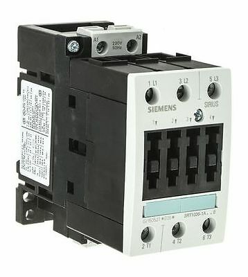 New Siemens Sirius 3RT1 3 Pole Contactor, 50A, 22kW, 230VAC Coil 3RT10361AP00
