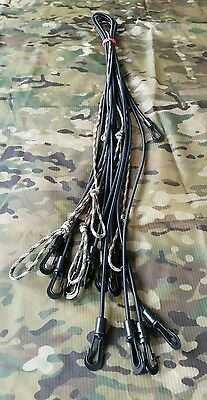 Occy straps, shock hootchie cord system. Bungee paracord. Tactical military
