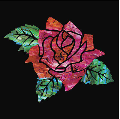 Rose Of Cimarron Emmylou's Rose Flower Inlay Sticker Decal For Guitar & Bass
