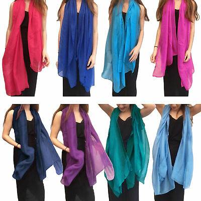 Cn Seller Ladies Womens Long Plain Fashion Scarf Neck Scarves Chiffon Shawl Wrap