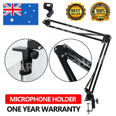 Mic Microphone Holder Desktop Stand Pro Suspension Boom Arm Mount for Broadcast