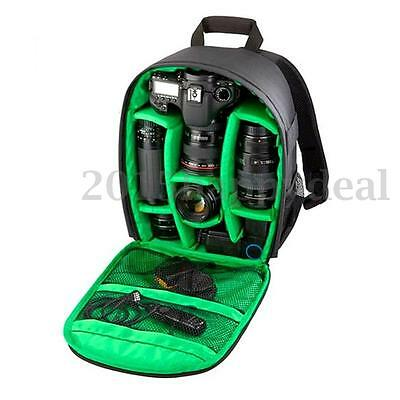 NEW Waterproof DSLR Camera Lens Case Bag Backpack For Canon Nikon Sony