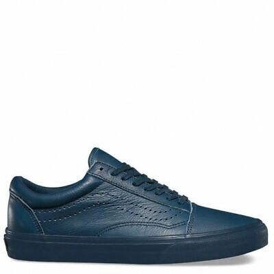Vans Shoes Old Skool Leather Midnight Navy New Sale