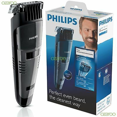 Philips Turbovac Mens Rechargeable Vacuum Beard Trimmer Cordless 1-18mm - QT4050