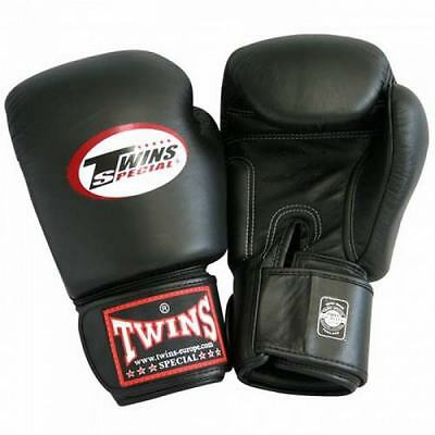 New Twins Special BGVL3 Black Muay Thai Boxing Gloves Martial Arts Sporting