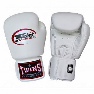 New Twins Special BGVL3 White Muay Thai Boxing Gloves Martial Arts Sporting