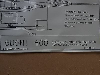 Model Aircraft Plans - Sushi 400 - electric flying wing