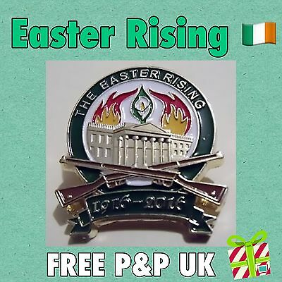 EASTER  RISING CENTENARY  1916 PIN LAPEL  BADGE  IRELAND 1916-2016 easter lily