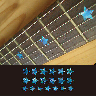 Star (Abalone Blue) Fretboard Markers Inlay Stickers Decals For Guitar & Bass