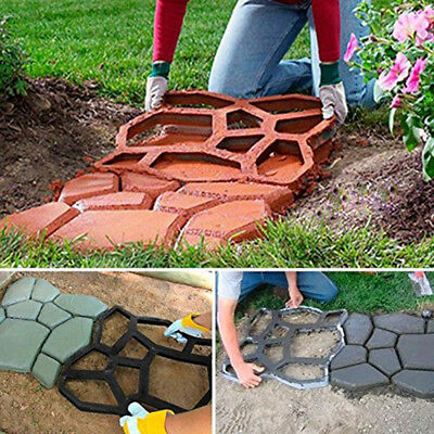 DIY Plastic Mold Making Stone Block Pavement Raw Building Cement Paver Path