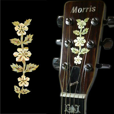 Flower Vine Epiphone Headstock Flowers Inlay Sticker Decal Guitar