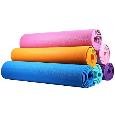 Yoga Mat For Fitness 183 61 0.6CM Lightweight Keep Slim Fit Accessory Training M