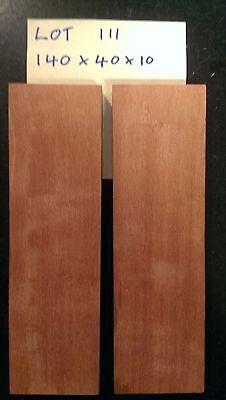 Redgum Bookmatched Wood Knife Scales (Lot 111)