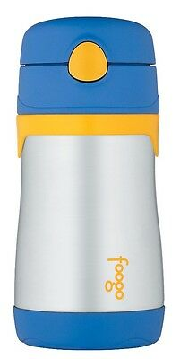 Thermos Foogo Stainless Steel Vacuum Insulated Drink Bottle with Straw (Blue)