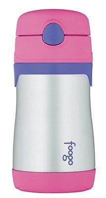 Thermos Foogo Stainless Steel Vacuum Insulated Drink Bottle with Straw (Pink)