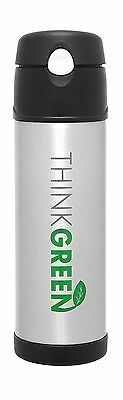 Thermos Stainless Steel Vacuum Insulated Hydration Bottle (Think Green) - 530 mL