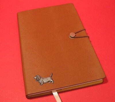 Basset Hound A5 Tan Note Book Dog Journal Vet Father Mothers Useful Gift