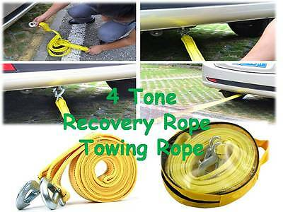 5 x 4 TON Heavy Duty Tow strap, towing car rope strap 4.5 Meter recovery strap