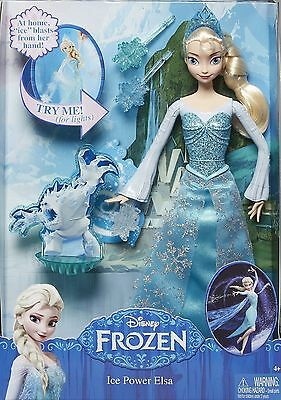 Disney Light Up Frozen Ice Power Elsa Doll with snowflake targets - New