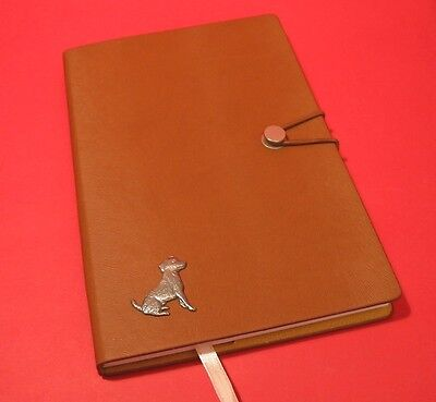 Jack Russell Terrier A5 Tan Note Book Journal Dog Vet Christmas Useful Gift