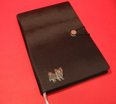 Papillon Dog A5 Black Note Book Journal Dog Vet Christmas Useful Gift