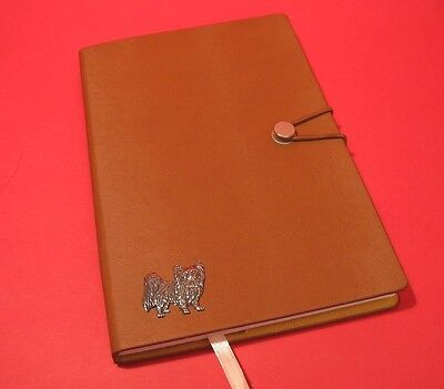 Papillon Dog A5 Tan Note Book Journal Dog Vet Christmas Useful Gift