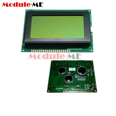 5PCS 12864 LCD Display Module Graphic Matrix 128x64 Yellow green Backlight MO