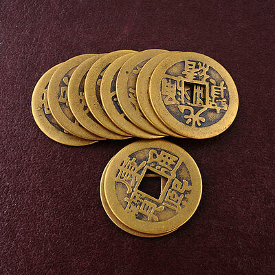 10x Feng Shui Chinese Fortune phoenix Coin Emperor Qing Money I Ching Coins