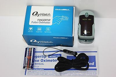 OxyWatch ChoiceMMed Instant Read Fingertip Pulse Oximeter, Blood Oxygen SpO2